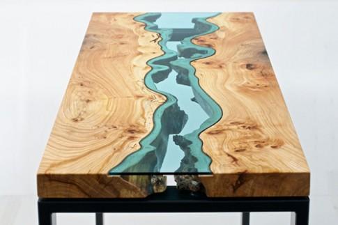 Các mẫu bàn thiết kế giống như dòng sông