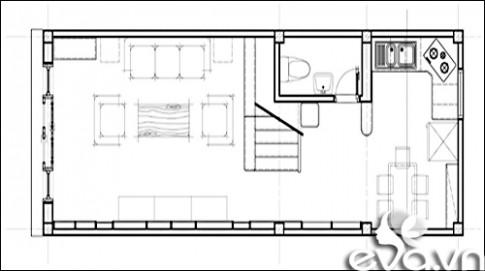 Cải tạo nhà lô 35m2 cho đôi uyên ương sắp cưới