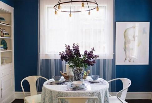 Căn bếp màu xanh