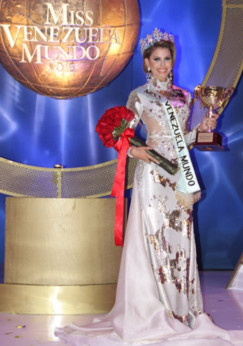 Cận cảnh nhan sắc kiều diễm của tân Hoa hậu Venezuela