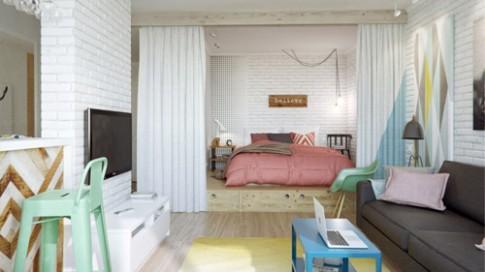 Căn hộ 45 m2 của đôi vợ chồng trẻ