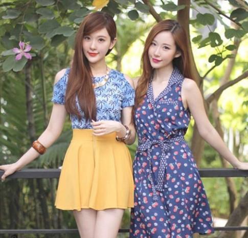 Cặp chị em song sinh tạo 'sóng' vì giống hệt mỹ nữ Hàn