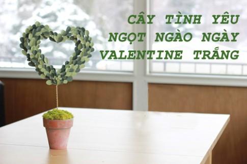 Cây tình yêu ngọt ngào cho Valentine trắng