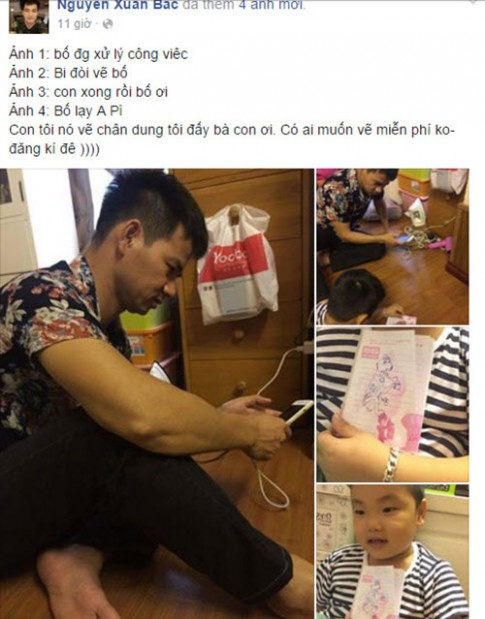 """Chân dung bố của con trai Xuân Bắc khiến dân mạng """"ngã ngửa"""""""