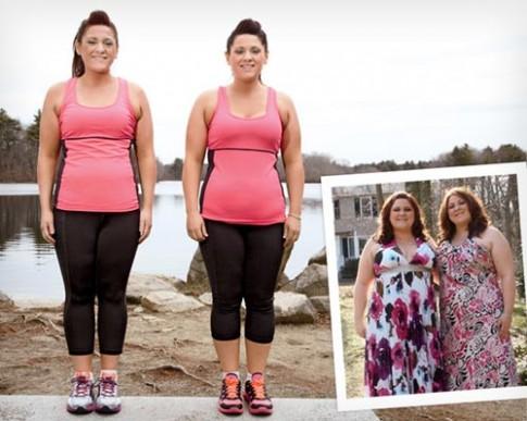 Chị em sinh đôi 28 tuổi giảm 40kg gây xôn xao
