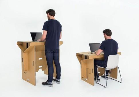 Chiếc bàn làm việc siêu bền làm từ giấy bìa