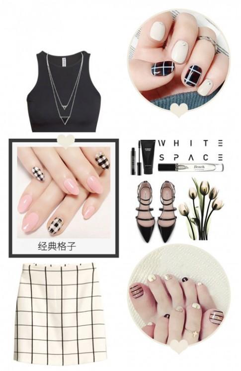 Chọn mẫu nail hợp với trang phục của bạn