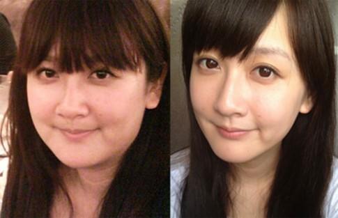 Cô gái xinh đẹp thành hot girl sau khi giảm cân