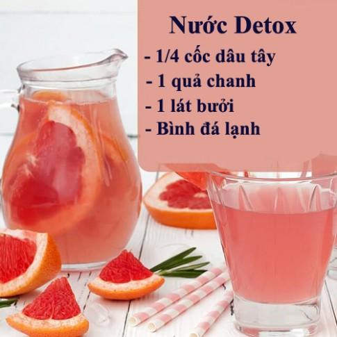 Da mịn dáng thon với 10 loại nước Detox
