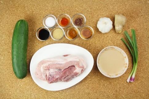 Dưa chuột cuộn thịt heo ngon mê