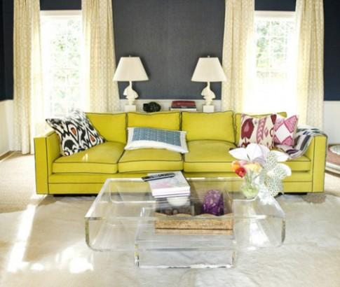 Ghế sofa màu sắc đem sức sống cho phòng