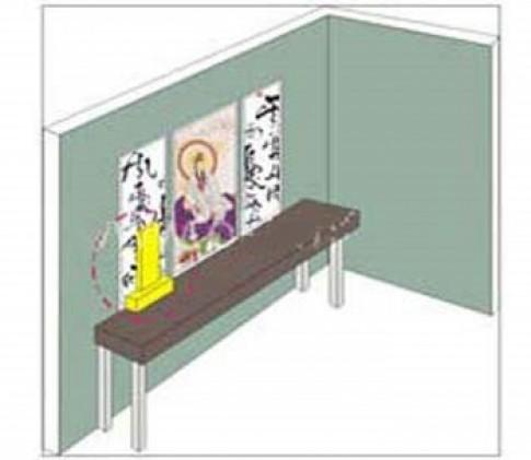 Gia đình dễ tán gia bại sản vì bàn thờ sai vị trí