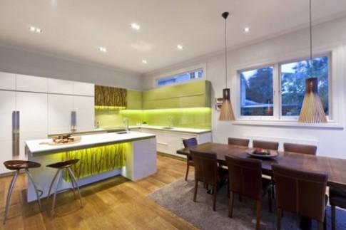 Giữ ấm cúng trong phòng bếp hiện đại