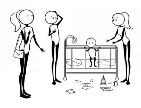 'Hài vỡ bụng' với loạt ảnh: Lần đầu làm bố mẹ trẻ con