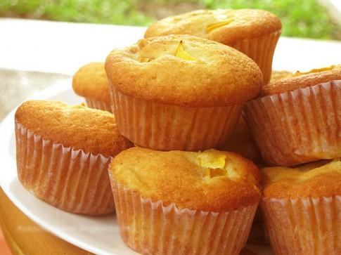 Hap dan voi banh muffin xoai sua chua
