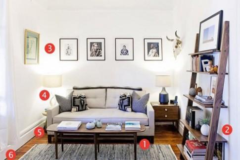 Học lỏm 6 mẹo cho phòng khách nhỏ của nhiếp ảnh gia người Mỹ