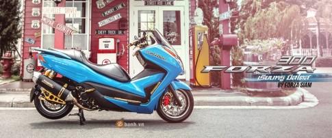 Honda Forza 300 độ hàng loạt đồ chơi biker đầy phong cách