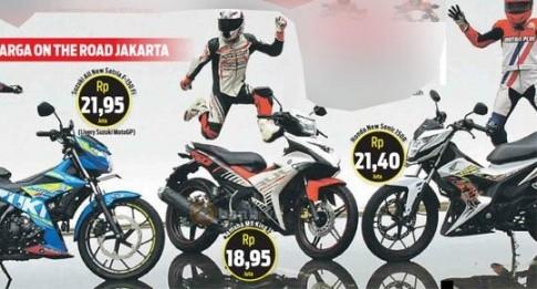 Kết quả Sức mạnh Suzuki Satria F150 Fi 2016, Honda Sonic 150R và Yamaha Exciter 150