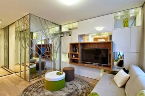 Không gian thoáng đãng trong căn hộ 34 m2