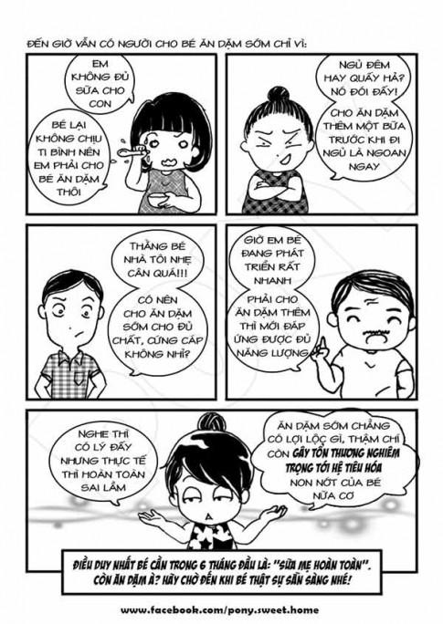 Ký sự ăn dặm bằng tranh cực bổ ích của mẹ Việt