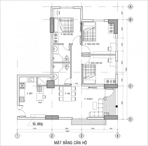 Làm mới căn hộ 96 m2 với 100 triệu đồng