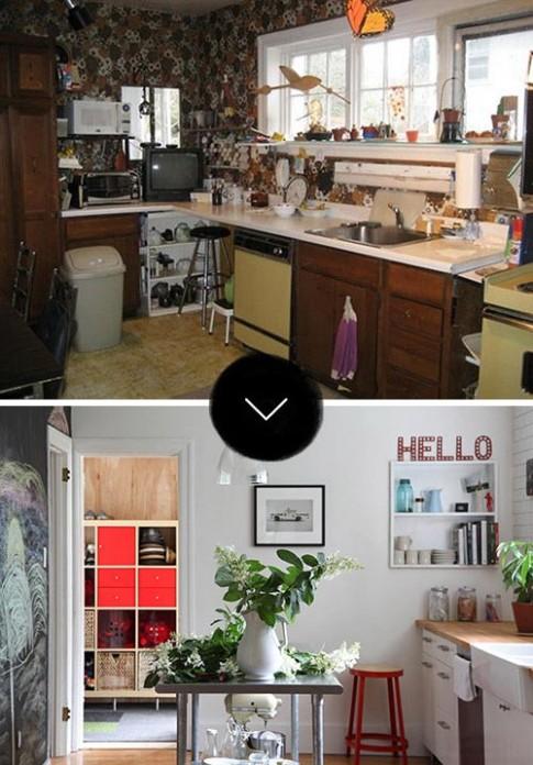 """""""Lột"""" áo cũ để phòng bếp hết xấu xí"""