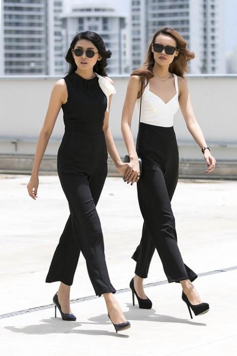 Mặc đen - trắng đẹp như hai quý cô sành điệu Sài Gòn