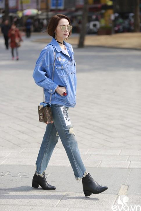 Minh Hang ngoi hang ghe dau tai Seoul Fashion Week