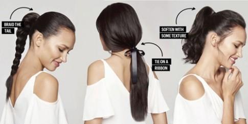Nâng cấp kiểu tóc buộc đuôi ngựa vừa điệu vừa xinh