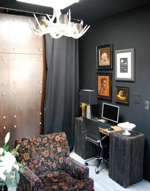Nhà 32m2 cá tính với gam màu đen huyền bí