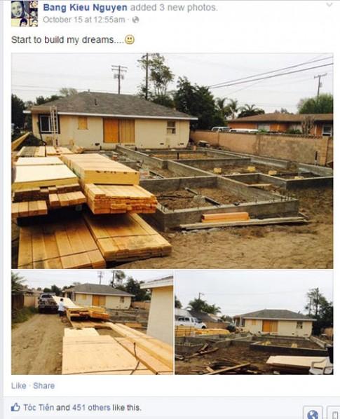 Nhà gỗ 400m2 đang xây hoành tráng của Bằng Kiều