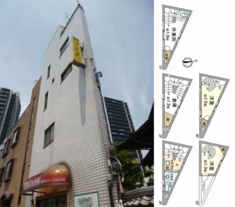 Nhà hẹp 7m2 'hét' giá 1,5 tỷ đồng ở Nhật Bản