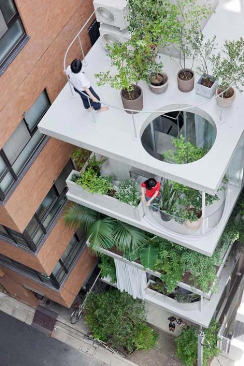 Nhà không cần tường, tầng nào cũng có vườn