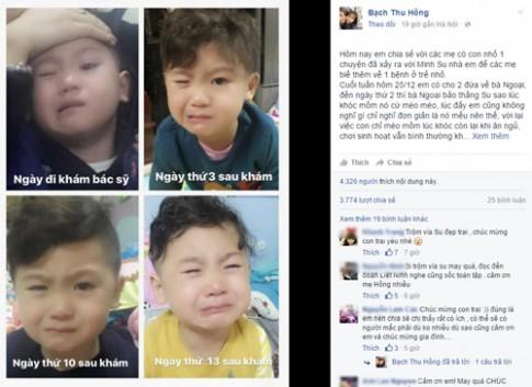 Nhìn con khóc, mẹ Việt kịp thời phát hiện ra bệnh nguy hiểm
