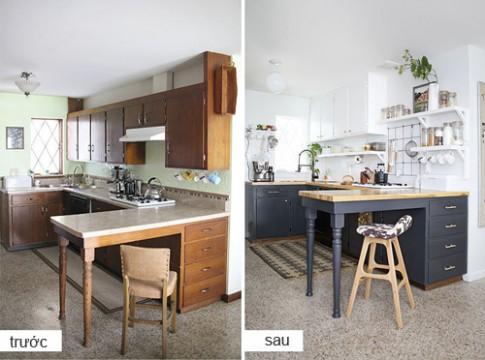 Những căn bếp cũ ấn tượng hơn sau khi cải tạo