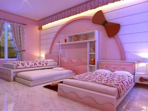 Những căn phòng lãng mạn với màu hồng Kitty