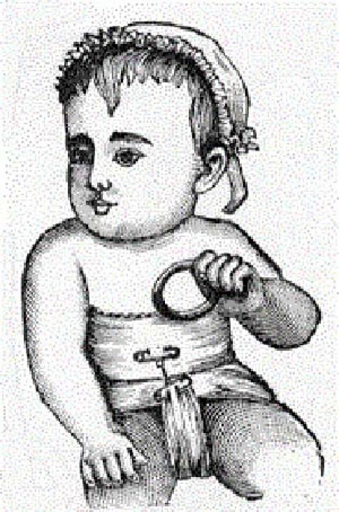 """Những kiểu bỉm """"kỳ quặc"""" của trẻ sơ sinh thời cổ"""