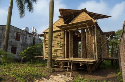Những ngôi nhà tre mộc mạc ở quận Hoàn Kiếm, Hà Nội