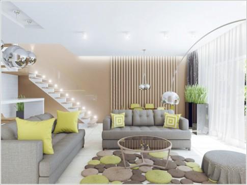 Những tấm thảm đẹp làm thay đổi phòng khách