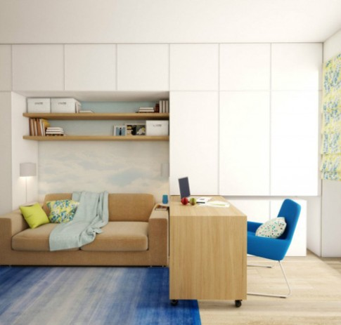 Nội thất tinh tế của căn hộ nhỏ khép kín
