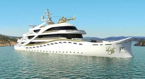 Nội thất xa xỉ trên du thuyền Mỹ nhân triệu đô