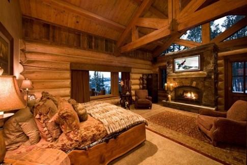 Nóng bừng phòng ngủ gỗ cho mùa đông không lạnh