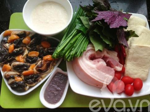 Ốc nấu chuối đậu thơm ngon