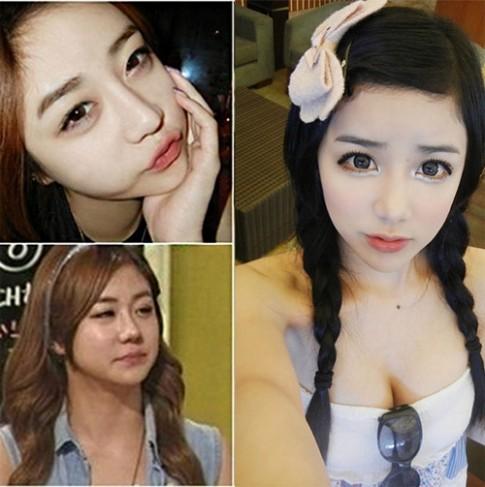 Phát hoảng với nhan sắc thật của các hot girl xứ Hàn
