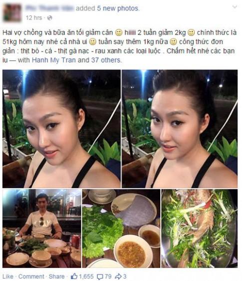 Phi Thanh Vân tiết lộ thực đơn giảm 2kg trong 2 tuần