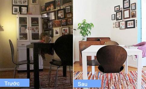 Phòng ăn trước và sau khi sửa chữa