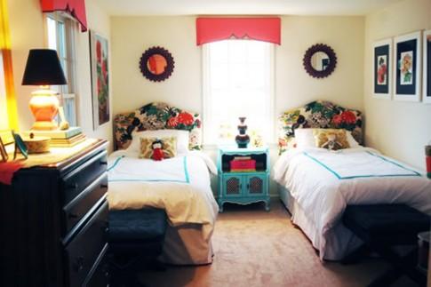 Phòng ngủ chung cho hai bé