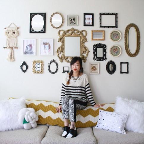 Phòng ngủ nhỏ cất giấu trăm đôi giày của tín đồ thời trang
