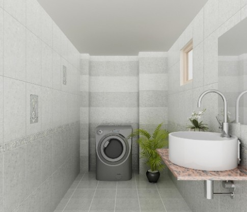 Phòng tắm nhỏ vẫn tiện nghi và thoáng đãng