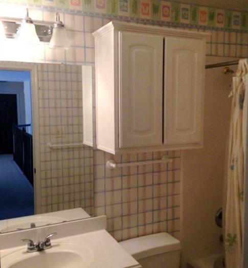 Phòng tắm thay đổi hoàn toàn sau khi sửa